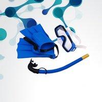 아이들이 아이들이 다이빙 스노클링 마스크 고글 스노클 오리발 아이들 수영 통기성 튜브 핀 접근 자 마스크