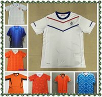 Retro Klasik Hollanda Home Away Futbol Formaları 1974 1988 1990 1992 1996 1997 1998 2000 2002 2010 Hollanda Sneijder Gullit Robben Curyff Van Bastaten Futbol Gömlek