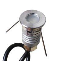 3000K 12V 1W Mini Lámpara de tierra LED 120 Ángulo de haz Aire exterior A prueba de agua Paisaje subterráneo Pequeña iluminación
