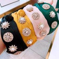 Fashion Knot Turban Hair Bands For Women Rhinestone Jewelry Silk Headband Haarband Hairband Diademas Bordadas Hair wjl3829