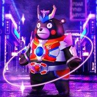 Armored Warrior Kumamoto Kumamoto المربع الأعمى المشترك صندوق الرسوم المتحركة جولة محيطة ثنائي الأبعاد لطيف