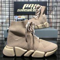 2021 En Kaliteli Çiftler 2.0 Erkekler Moda Tasarımcılar Ayakkabı Bayan Sneakers Erkek Kadın Üçlü S Siyah Açık Platformu Çorap Rahat Trainer Sneaker