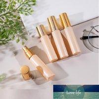 10 ml cam sis sprey şişesi altın rulo uçucu yağlar için şişeler inci kozmetik konteyner parfüm atomizer
