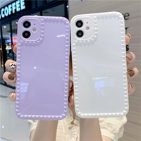 Fashion Love Heart Phone Cases For iPhone 11 XS 12 Pro MAX X XR 7 8 Plus Soft TPU Candy Solid Color Shockpoof Cover