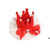 Собака одежда груминг корона кошка домашних волос клип маленький POG аксессуары собаки кружева орнаменты DHE6444