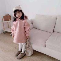 Толстовки толстовки физические стрельба пуловер с капюшоном WETTER SLU розовая зима прекрасный давно SVE корейский женский чистый цвет детская одежда