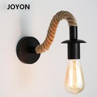 Retro Rope Wall Lamp Industrial Decor Light E27 Edison Bulb Iron Indoor Loft Itdoor Led