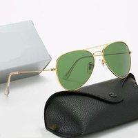 Mens Design Polarizado Luxo Ray Sunglasses Homens Mulheres Piloto UV400 EyewearProibiçõesLente de polaroid de quadro de metal de óculos com caixa