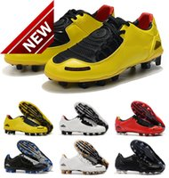Classic New Arrival Mens Total 90 Laser I SE FG Football Shoes Top Quality Limited 2000 Black Yellow Athletic Soccer Cleats Size 35-45