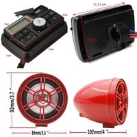 Motorcycle Car USB Audio Radio FM MP3 Stereo Amplifier Alarm System Speaker Waterproof Anti-Theft