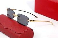 Occhiali da sole da uomo Designer Designer Leopard Head Driving Sunshade Occhiali Tempo libero di lusso con scatola originale Donne rettangolo Goggle misto colore multi