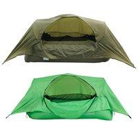Tiendas de campaña y refugios Hamaca inflable Tienda Portátil Al aire libre Cómodo Air Sofá Sofá Camping Suspendido con malla de nylon de alta densidad