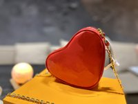 top Fashion ladies Heart Purse red Shoulder bag Cross body Wallets Lady Genuine Leather Triangle Backpack Handbags Tote Purses wallet Love gift Designers Bags