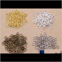 1000 Piezas Lotes de 5 mm Joyas ABIERTAS DIY Hallazgos para collares de gargantilla Pulsera Hacer 4 Color Selecciona DIA 07 MM TYOZ1 Split Split EQ1FW