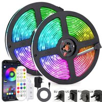 Strips LED Strip Light Remote Bluetooth Smart WIFI Phone APP Control RGB SMD Flexible Diode Lamp Tape+Adapter 25M 30M Backlighting