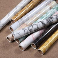 Wallpapers 10m Thick Wallpaper Waterproof PVC Imitation Marble Pattern Stickers Self-adhesive For Kitchen Renovation Furniture