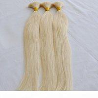 En Kaliteli 613 Ağartma Sarışın Beyaz İnsan Örgü Saç Toplu Hiçbir Atkı Düz Brezilyalı İnsan Saç 300 Gram Satın Alın