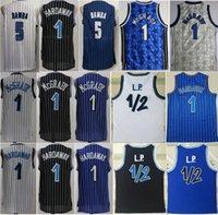 Basketbol Mohamed Bamba Jersey Tracy McGrady Penny Harideway LP Anferee Vintage Dikişli Siyah Mavi Beyaz Nefes Spor