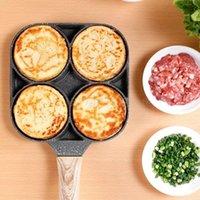 Pan de huevo frito antiadherente tortero de cuatro orificios tortilla de panqueques herramienta herramienta de cocina PAN PANTILLAS FLIP Huevos Molde Accesorios para hornear de cocina WLL751