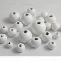 NY332 Weiße natürliche hölzerne runde kugel spacer perlen für schmuckherstellung diy 6 8 10 12 14 16 18 20 25mm runde holzperlen weiße holzperlen