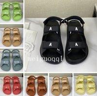 2021 Yeni Stil Sandalet, Lüks Kadın Sandalet, Marka Kadın Sandalet, Kadın Terlik, Velcro Düz Sandalet Artı Kutuları 35-41