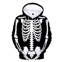Women's Swimwear Sweater Hoodie Halloween 3D Printing Pullover Long-Sleeved Fleece Coat Fashionable Holiday Clothing Sweatshirt Long Sleeve