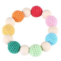 Pacifiers# Natural Wood Teether Bracelet Crochet Clip Holder Shower Tool Gift For Lovely Baby Silicone Toy