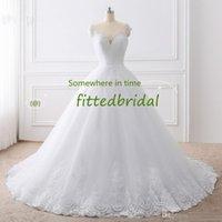 صور حقيقية فساتين الزفاف الدانتيل يزين أثواب الزفاف vestido دي princess شاطئ اللباس الكرة ثوب