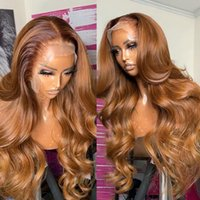 Lace Wigs Luvin 30 32 Inch Ginger Brown Orange Front Human Hair For Black Woman Highlight Body Wave Honey Blonde Frontal Wig