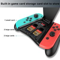 Game Controllers & Joysticks 2 In 1 Controller Handle Charging Gamepad Grip With Card Case LED Indicator Gaming Joystick For Switch