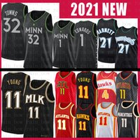 Trae 11 Jeune Karl-Anthony 32 Towns Anthony 1 Edwards Basketball Jersey Kevin 21 Garnett Spud 4 Webb MinnesotaTimberwolvesAtlantafaucon