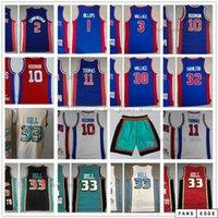 Mitchell y Ness Retro Steins Basketball Jerseys 10 Dennis 33 Grant Rodman Hill 2 Cade 3 Ben Cunningham 30 Rasheed Wallace 32 Richard