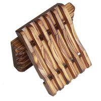 Sapone in legno Shower Shower Taglio Cassa Cassa Contenitore contenitore Scatola di immagazzinaggio in legno naturale Porta vassoio Porta vassoio Scatole Scatole Scatole Scaffale Scatole di piastra di sapone BH3007 TQQ