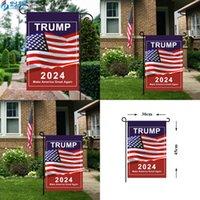 USA Trump General Election Banner Bandiere 2024 PRESIDENZIALE Campagna statunitense per la bandiera del giardino Stampa digitale 30 * 45cm Banner rendono America Grande di nuovo 3 49CDA Q2