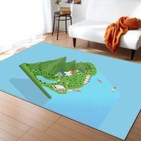 Ковры Demissir Краткий 3D-образный узор большой ковер для гостиной спальня ресторан напольный накладки мат офисный стул стул