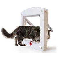 Los transportistas de gatos, cajones Casas La abertura de la puerta de mascotas es adecuada para pequeños animales para ingresar y salir de la embolización de plástico de perros libremente controlable