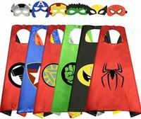 2020 Supereroe Capes con maschere per bambini Compleanno festa Forniture Party Favore I costumi di Halloween Dress Up Girls Boys Cosplay Q0910