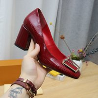 2021 MAYLEINE BOMBAS ZAPA DE LUJO MUJERES DE LUJO CHUNKY TEEL DESIGNADOR Tacones altos Vestido de mujer Tamaño del zapato 35-42 Modelo HF01