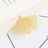 Neue Hochzeit Gold Lesezeichen Feder Olive Ginkgo Metall Absatz Kreative Lesezeichen DHD7494