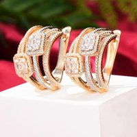 Dangle & Chandelier Missvikki Charms Luxury Cute Vintage Pendant Drop Earring Full Mirco Paved Crystal Zircon Dubai Wedding Fashion Jewelry