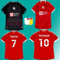21 22 Bristol City Futbol Formaları 2021 2022 Ev Kırmızısı Mavi Robins Paterson Wells Weimann Camisetas de Futbol Futbol Gömlek