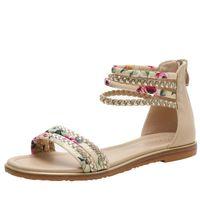 Sandals Women Summer Female Shoes Woman Wedge Comfortable Ladies Slip-on Flat Sandalias
