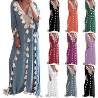 Ethnic Clothing Women Vintage Dresses Abaya Turkey Hijab Dress Middle Eastern Plus Size Robe Muslim Evening Tassel Long