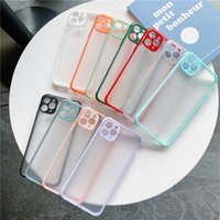 Transparent Hybrid TPU PC Shockproof Frosted Matte Cell Phone Cases for iPhone 12 11 Pro Max XR X 8 7 6 Samsung S21 S20 Note20 Plus Ultra A12 A32 A52 A72 4G 5G