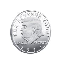2024 Trump Commemorative Coin American US Election Crafts Collection Gold Plated Double Colored Iron Coins OWA6595