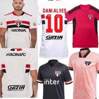2021 ساو باولو لكرة القدم جيرسي للرجال المشجعين المنزل الأبيض الوردي الأسود eutubro روزا 70th brennero داني ألفيس كرة القدم قميص 21 22