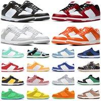 أحذية ركض منخفضة للرجال من dunk أحذية رياضية لرياضة المشي لمسافات طويلة في ولاية ميشيغان باللون الأبيض والأسود والأخضر الوهج سيراكيوز UNC ليزر برتقالي تجريدي