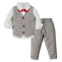Boys Clothes Little Gentleman Vest + Stars Shirt + Trousers Kids Birthday Suits Children Kids' things Infant Wedding Sets