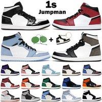 남성 여성 Jumpman 1S 농구 신발 1 높은 OG 그림자 2.0 하이퍼 로얄 어두운 모카 흑요석 대학교 블루 망 트레이너 운동화