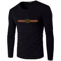 Designer Mens Stampato Lettera T-shirt vintage in cotone per uomo Design di moda Street Manica lunga Tee Tops Magliette